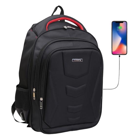 Mochila Porta Notebook 17 Smart Usb Tablet Acolchada Calidad Premium By Happy Buy - Reforzada - La Mejor Calidad