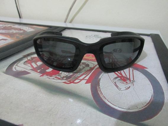 Óculos De Sol Motociclista Proteção Espuma Preto Com Capinha