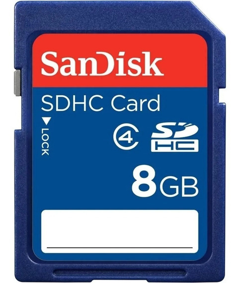 Cartão De Memória Sdhc 8gb Sandisk Classe 4