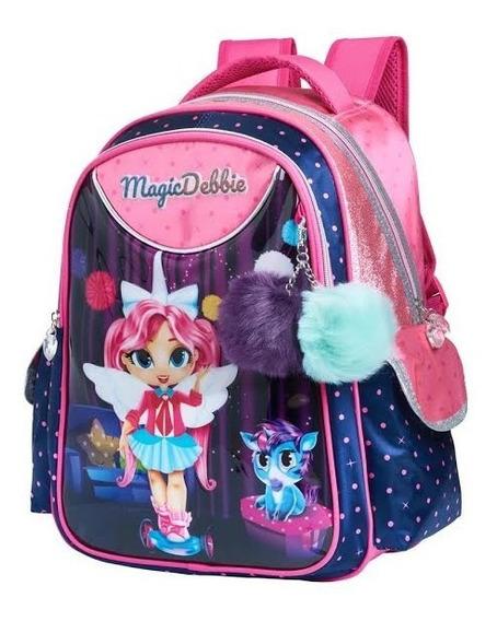 Mochila Escolar Infantil Menina Magic Debbie Unicórnio