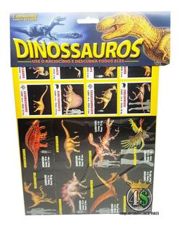 Card Game Dinossauro 20 Cards + Jogo Memória Rex Raciocinio
