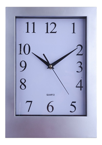 Imagen 1 de 8 de Reloj De Pared Rectangular