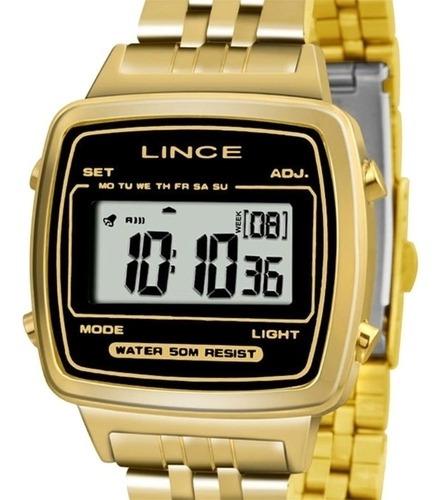 Relógio Unissex Lince Pulseira Aço Inox 50m Sdph040l-bpkx