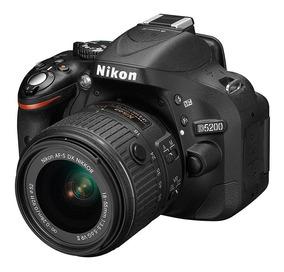 Câmera Nikon D5200 24.1 Mgp Lente 18-55mm Vr- Emb Divergente
