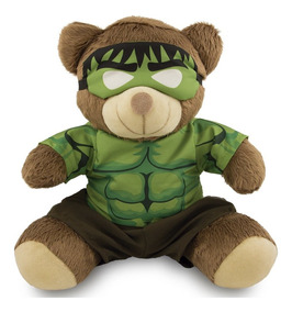 Ursinho Super Herói Fantasia Hulk 20cm