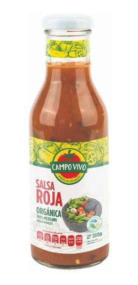 Salsa Roja Orgánica Campo Vivo 380g.