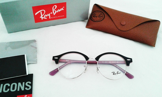 Oftalmicos Ray Ban 4246v Clubmaster Redondo Clubround 49mm
