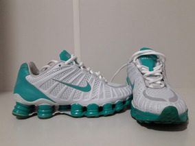 Nike Shox Tlx Turbo Original Branco E Azul Turquesa Reliquia
