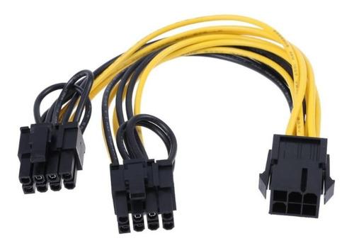 Cable Adaptador Pci-e De 6 Pines A Doble 6 Y 8 Pines Grafica
