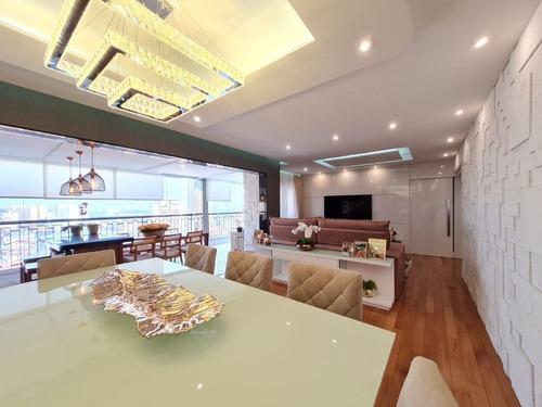 Imagem 1 de 30 de Apartamento Na Vila Rosália, Condomínio Sólon, 137m², 3 Dormitórios, 1 Suíte, 2 Vagas. - Ap0520
