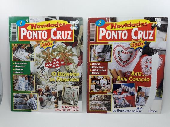 Revista Kit Com 2 Novidades Ponto Cruz Nº 1 E 2 Antiga Usads