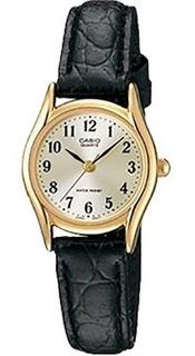 Ltp-1094q-7b2rd - Reloj Casio Pulso Cuero Caja Dorado