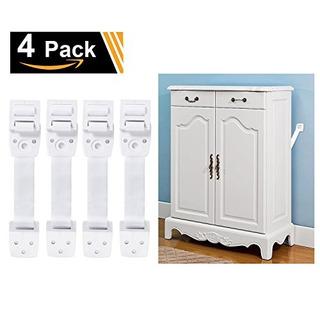 Adoric 4pack Antitip Furniture Anchor Tv Straps Kits Ajustab
