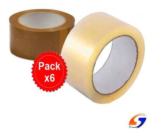 Cinta Adhesiva Empaque 50mm. X100 Pack X6 Serviciopapelero