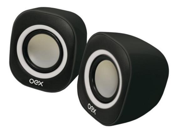 Caixa De Som Para Pc, 6w - Oex Sk100
