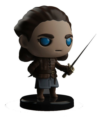 Imagen 1 de 5 de Muñeco Arya Stark Got Figura Para Pintar Plakit Coleccion