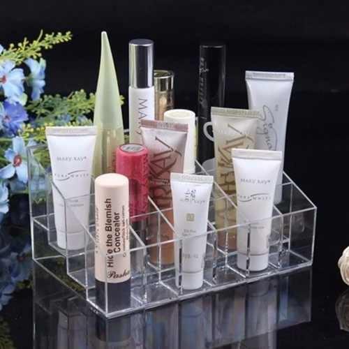 Imagen 1 de 6 de Organizador Cosmeticos Acrilico Maquillaje 24 Espacios H8060