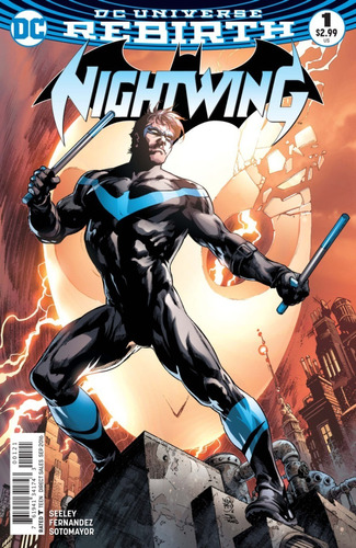 Nightwing #1 Variant Cover (2017) Rebirth Dc Comics