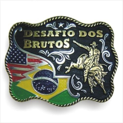 Fivela Ouro Boiadeira Country Desafio Dos Brutos Pelegrini