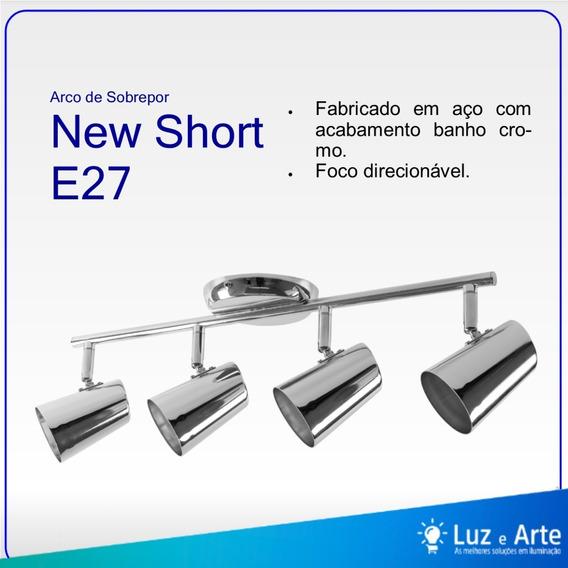 Lustre Arco De Sobrepor 4 Spots New Short E27 Cromo Llum