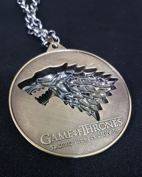 Colar Got Game Of Thrones - Winter Is Coming - Casa Stark