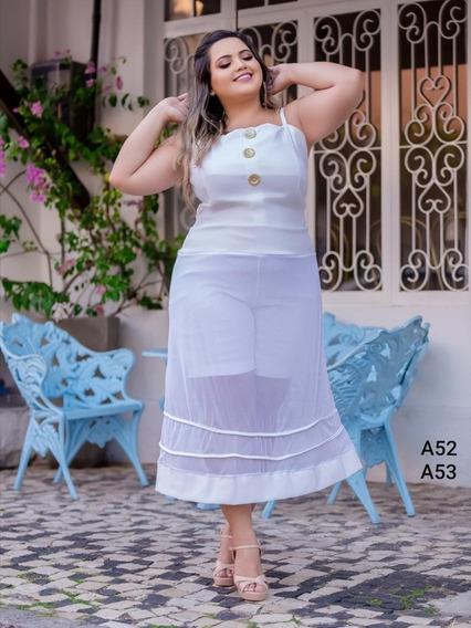 Vestido Plus Size Short-saia Do 44 Ao 54