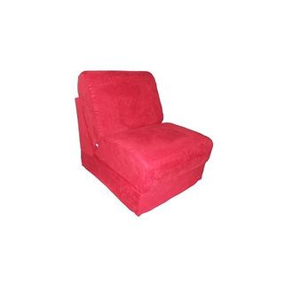 Muebles Divertidos Micro Suede Teen Chair Con Almohada, Rojo