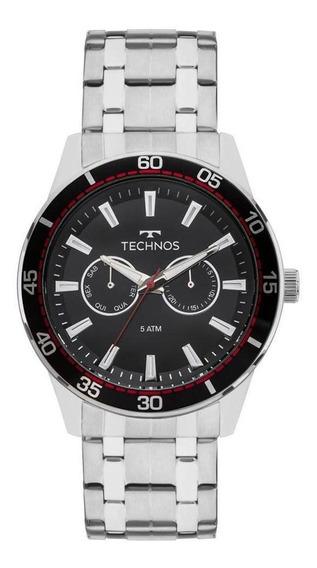 Relógio Technos Masculino Sky Master Prata 6p25bo1p