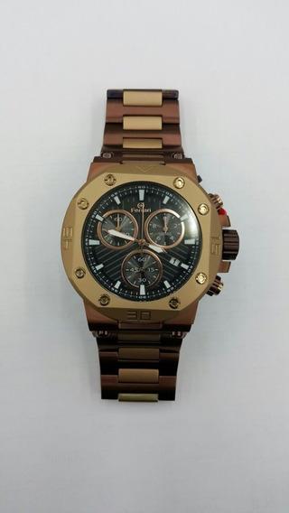 Relógio Ferrari Masculino Chocolate T13jo52 Original Barato
