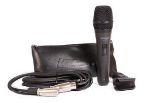 Microfone Profissional Dinâmico Supercardioide C/ Bolsa Cabo