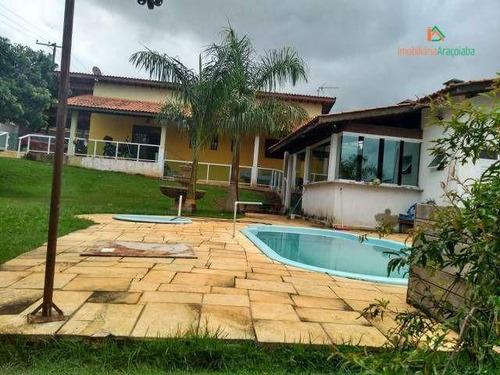 Imagem 1 de 11 de Chácara Com 2 Dormitórios À Venda, 1000 M² Por R$ 460.000,00 - Jundiaquara - Araçoiaba Da Serra/sp - Ch0257