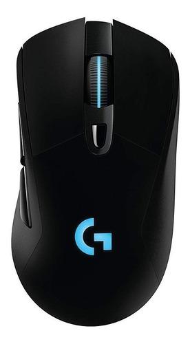 Imagen 1 de 3 de Mouse de juego inalámbrico recargable Logitech  G Series Lightspeed G703 negro