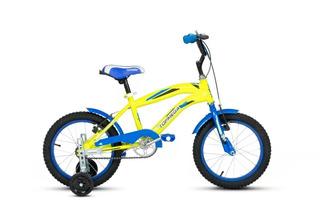 Bicicleta Bmx Cross Topmega Rodado 16 Nene Infantil