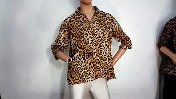 I9025 Camisa Manga Bajo 3 Cuartos.animal Top Top