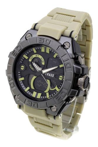 Reloj Hombre Feraud 5545 Analógico Digital Wr50 Crono Alarma