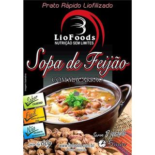Comida Liofilizada Sabor Sopa De Feijão Liofoods