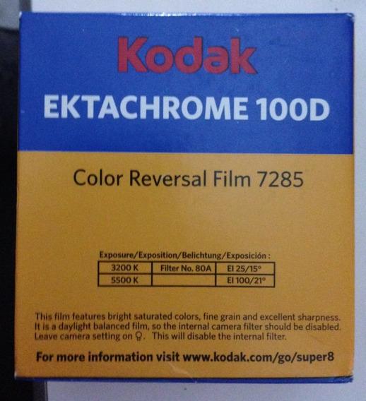 Filme Kodak Super 8 Mm Ektachrome 100d Reversível Cor 7285
