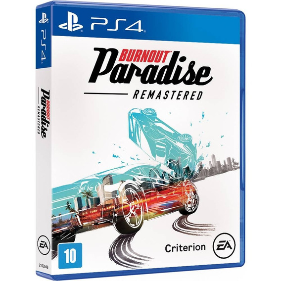 Burnout Paradise Remastered Ps4 - Mídia Física Lacrado Novo
