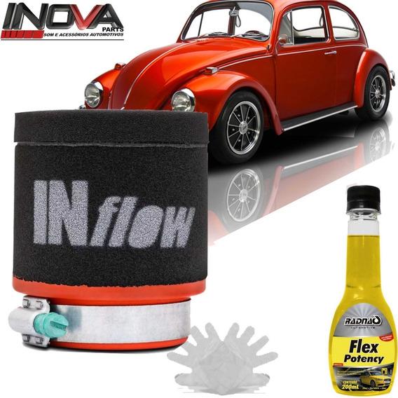 Filtro De Ar Esportivo Inflow Vw Fusca Carburação Dupla