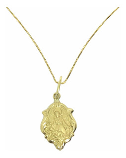 Medalha + Corrente De Ouro 18k 1,5cm Escolha Seu Santo + Nf