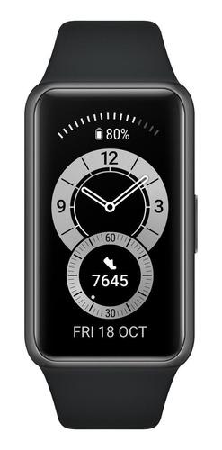 """Imagen 1 de 4 de Huawei Band 6 1.47"""" caja de  polímero  dark gray malla  graphite black de  silicona FRA-B19"""