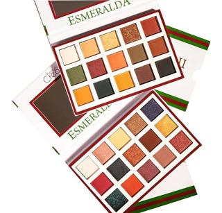 Kit De 2 Paletas De Sombras Esmeralda 1 Y 2 Beauty Creations