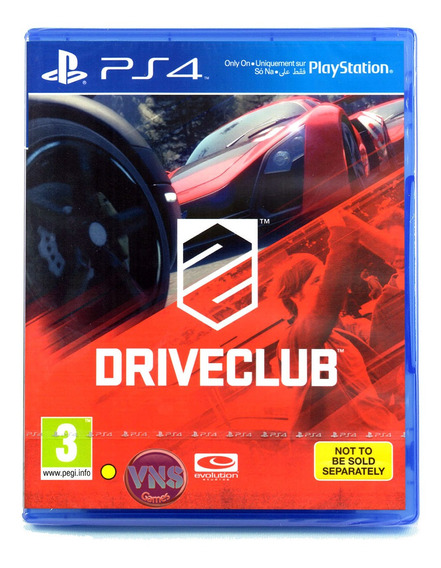 Driveclub - Ps4 - Play 4 - Novo - Mídia Física - Lacrado