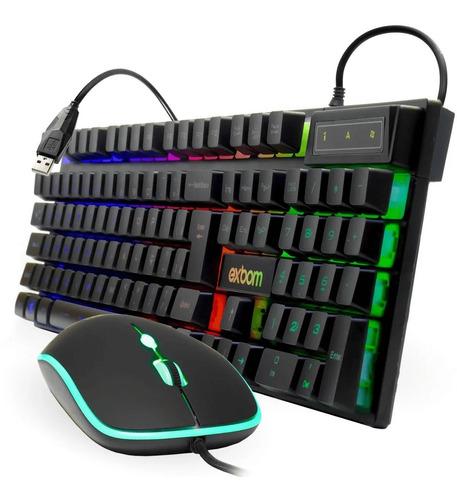 Imagem 1 de 8 de Kit Teclado + Mouse Gamer Rgb C/ Fio Poucas Unidades