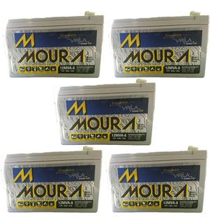 Baterias Moura Gel 8 Amper X 5 Unidades P/ Paneles Solares