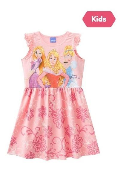 Vestido Salmão Princesas Disney Brandili