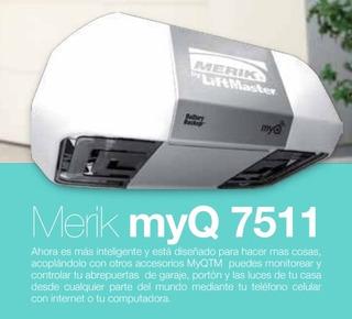 Motor Merik 7511w Myq Gateway Integrado Portón Eléctrico