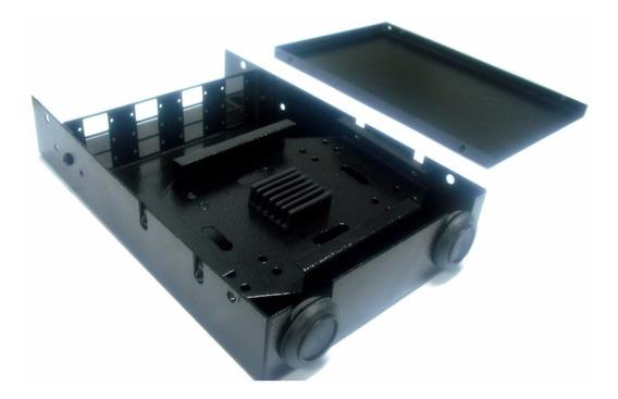 Mini Dio Em Aço Com Painel Sc 08 Fibras Ópticas Preto
