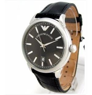 Relógio Emporio Armani Couro Preto Joalheria Amsterdam Sauer