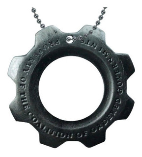 Gears Of War Collar Llavero Lancer Cog Tag Crimson Locust